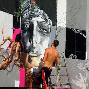 Street Art - Nova Gorica, Slovenij by Ana France - City,  Street & Park  Street Scenes ( 2014 -09 -08 grafiti 2 )