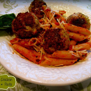 Parmesan Chicken Meatballs & Pasta-Gluten Free