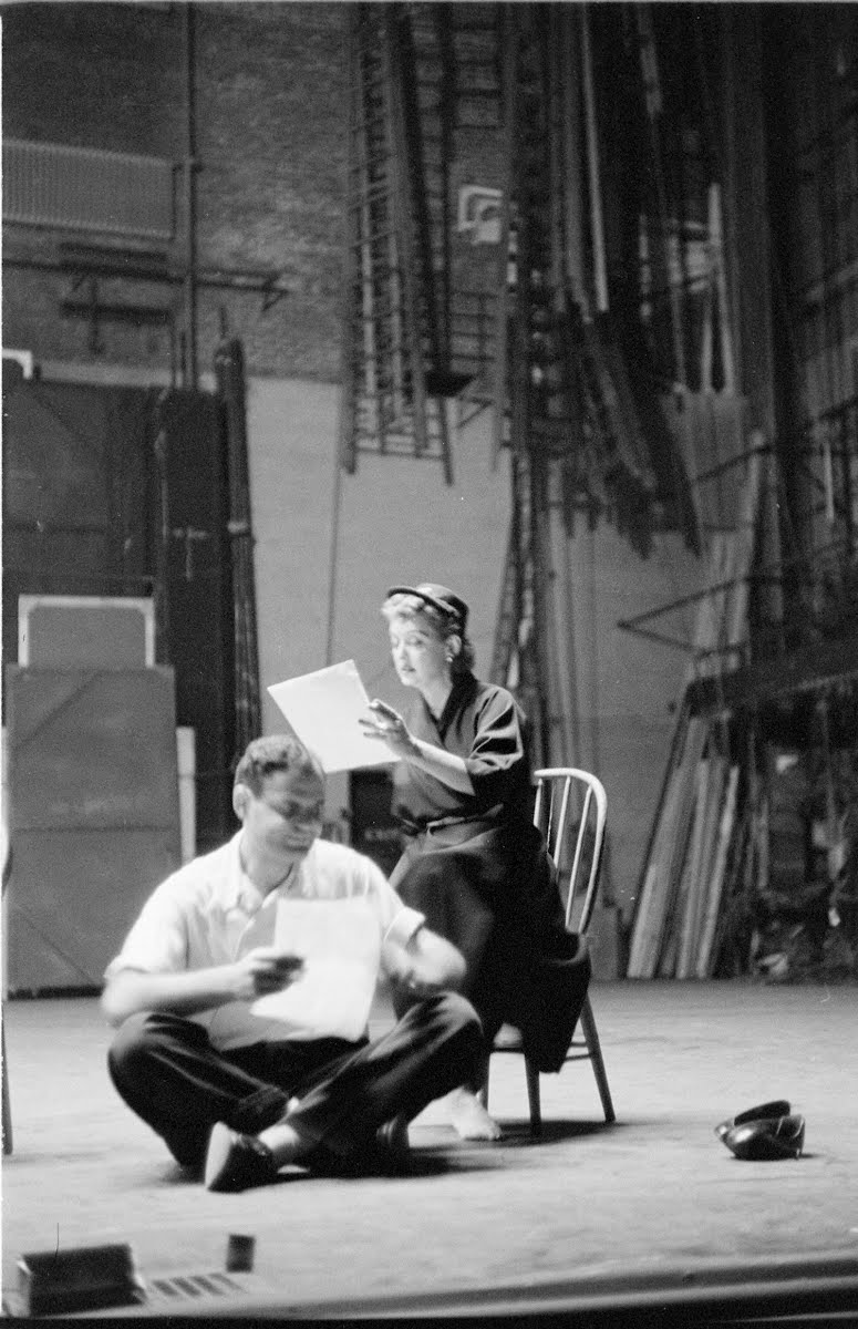 Bette Davis Rehearsel For Play