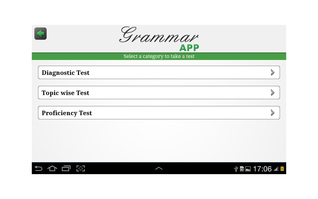 Grammar App by Tap To Learn - screenshot