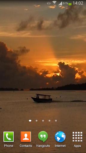 Lagoon Sunset Live Wallpaper