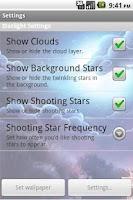 Screenshot of Starlight Live Wallpaper