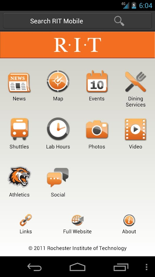 RIT Mobile - screenshot