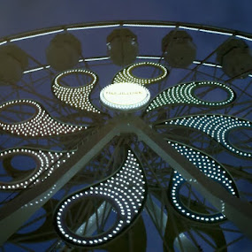 Nighttime Ferris Wheel by Tracey Chionchio - Digital Art Things