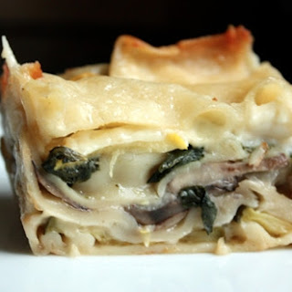 White Lasagna with Sweet Potatoes and Spinach