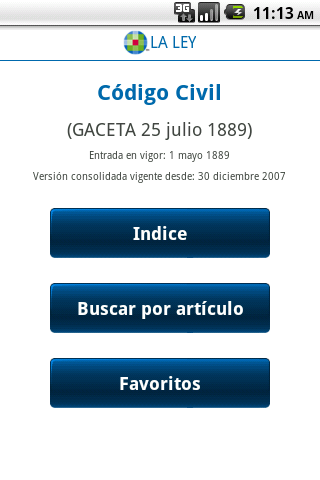 Código Civil - screenshot