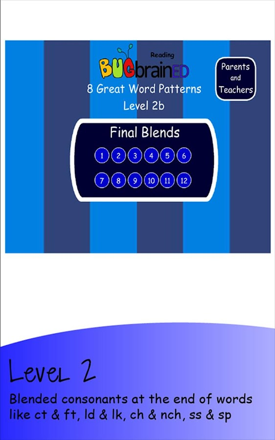 8 Great Word Patterns Level 2b - screenshot
