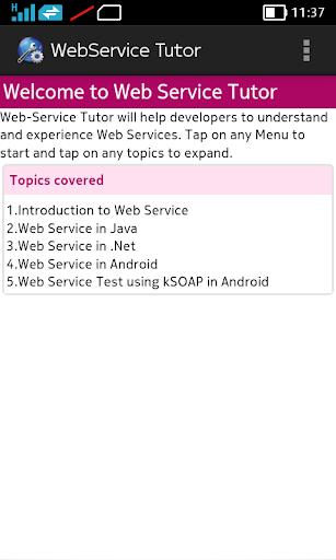 Web Service Tutor