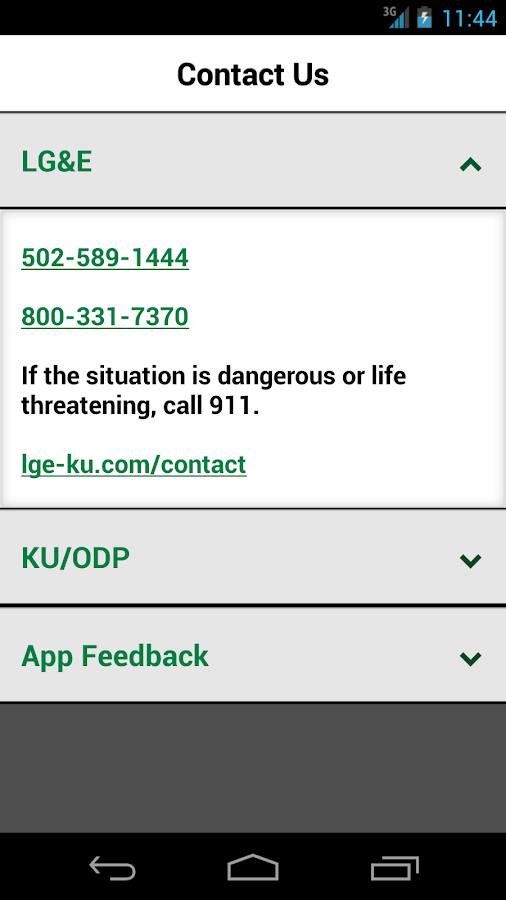 LG&E KU ODP Outage Maps- screenshot