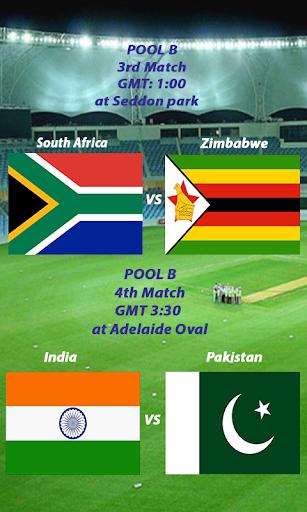 Schedule Cricket WorldCup 2015