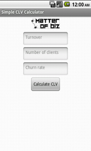 Simple CLV Calculator - screenshot thumbnail