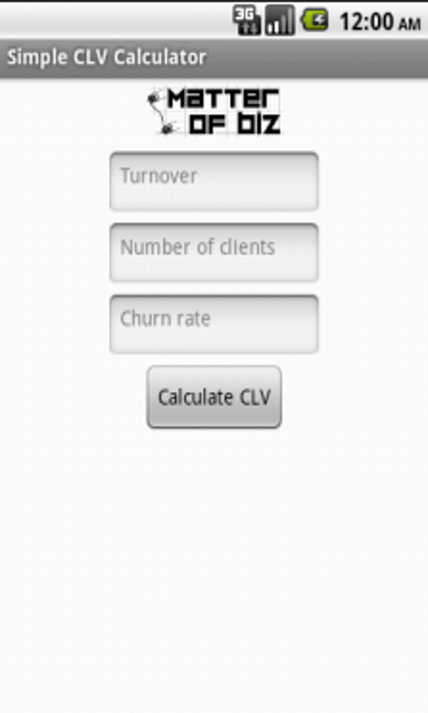 Simple CLV Calculator - screenshot