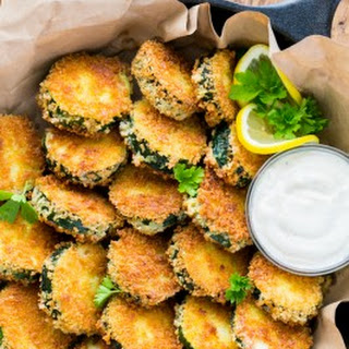 Crisp Zucchini Bites with Garlic Aioli Dip