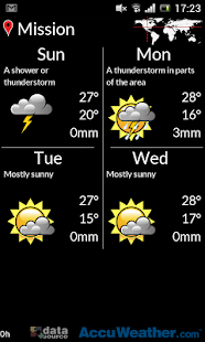 Weather by gega- screenshot thumbnail