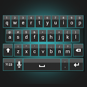 Sleek Cyan Keyboard Skin