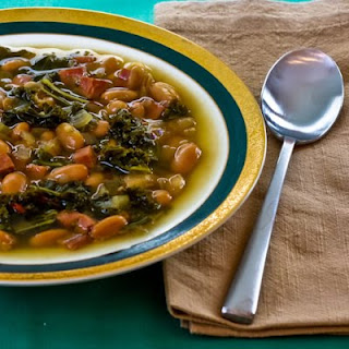 Cannellini Bean and Kale Soup with Ham and Sherry Vinegar.