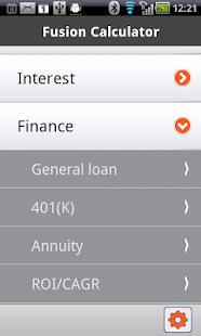 Fusion financial Calculator - screenshot thumbnail