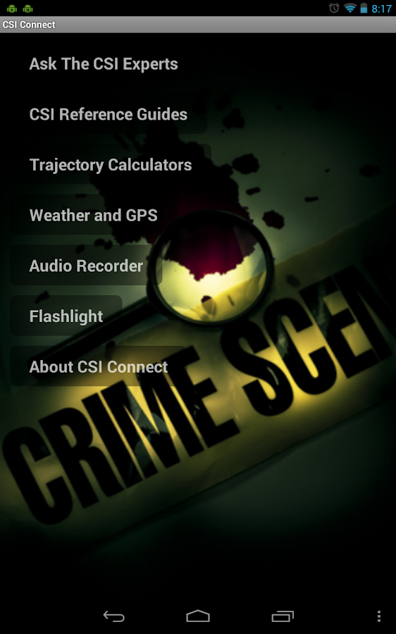 CSI Connect- screenshot