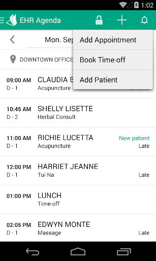Unified Practice - EHR Agenda