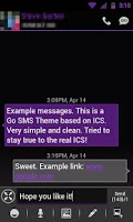 Screenshot of GO SMS THEME-Smooth ICS Purple