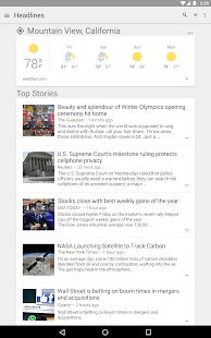 ������ Google News & Weather