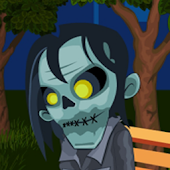 Zombie In Night Park Free