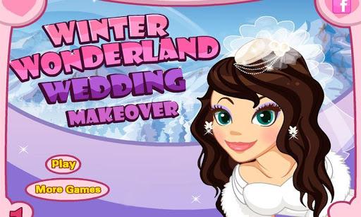 冬季仙境婚禮化妝雪,化妝,婚紗禮服和珠寶