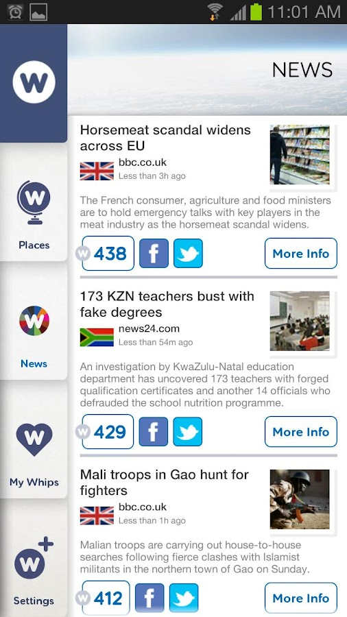 NewsWhip - screenshot