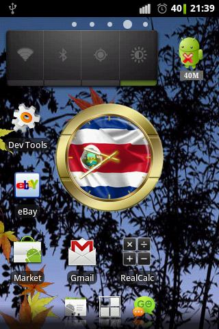 Costa Rica flag clocks - screenshot