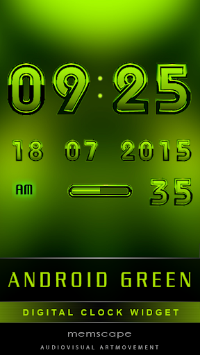 Digital Clock ANDROID GREEN