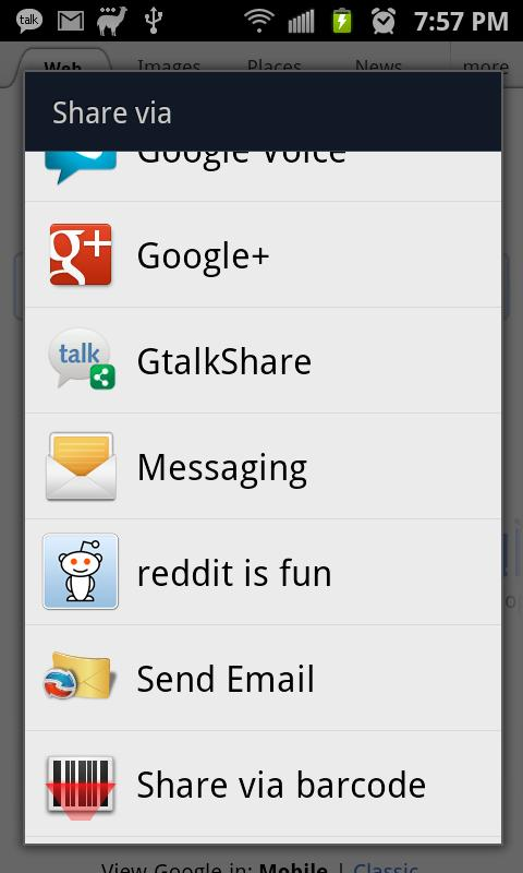 GtalkShare - screenshot