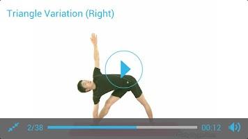 Screenshot of Standing Yoga Routine
