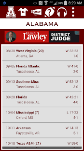 Alabama Football Schedule - screenshot thumbnail