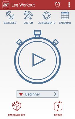 Rapid Fitness - Leg Workout - screenshot