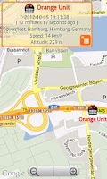 Screenshot of GPS-Trace Orange Client