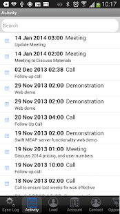 Swift MEAP for MS Dynamics CRM- screenshot thumbnail