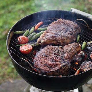 Masala-Spiced Rib-Eye Steaks with Tomato-Okra Relish