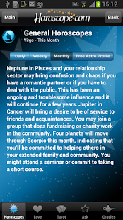 Horoscope and Tarot - screenshot thumbnail