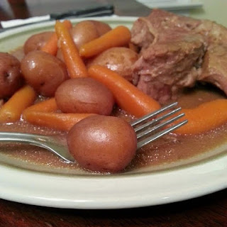 Crockpot Pot Roast, Carrots, and Potatoes