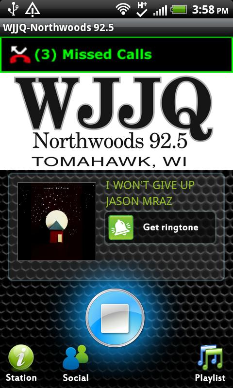 WJJQ-Northwoods 92.5 - screenshot