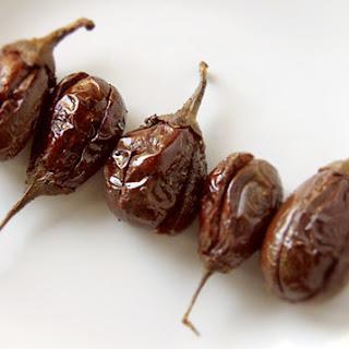 Dry Masala Stufffed Eggplants