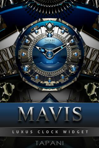 Mavis Luxury Clock Widget