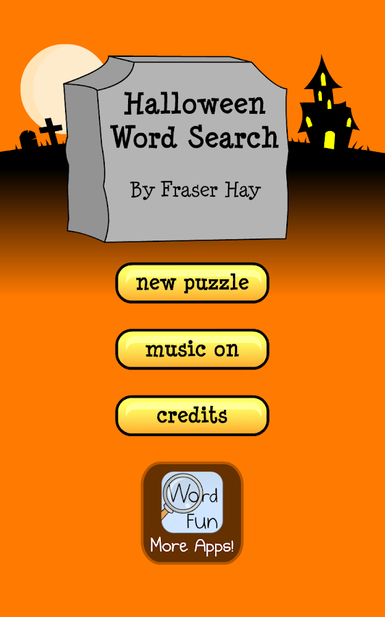 Halloween Word Search Puzzles- screenshot