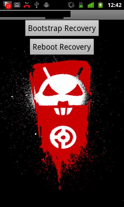 Droid 2 Recovery Bootstrap - screenshot