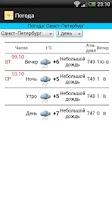 Screenshot of 5 day weather