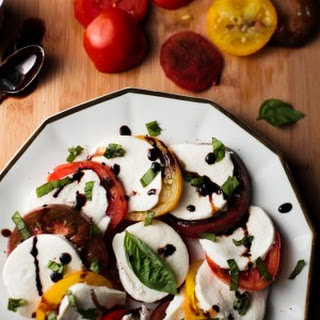 Caprese Salad with Honey Balsamic Reduction