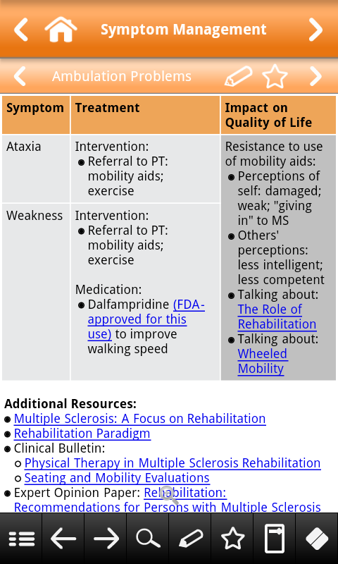 MS Diagnosis and Management - screenshot