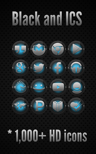 Black and ICS - Icon Pack