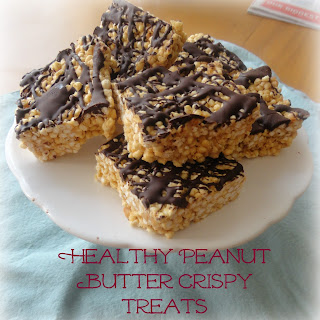 Healthy Peanut Butter Crispy Treats