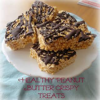 Healthy Peanut Butter Crispy Treats.